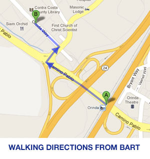 BART walking map