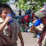 Scouts enjoying some delicious water!