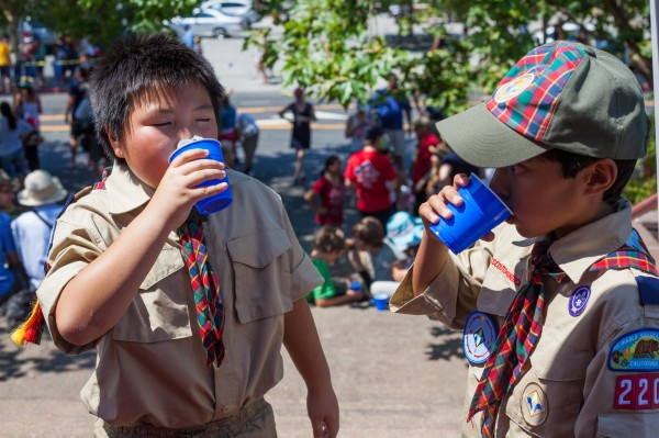 Cub Scouts enjoying some delicious water!